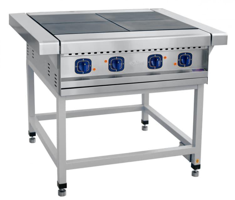 Идеальный вариант для кухни — промышленная электрическая 4-х конфорочная плита